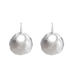 ALEXA GRANULATION DISC EARRINGS - SILVER