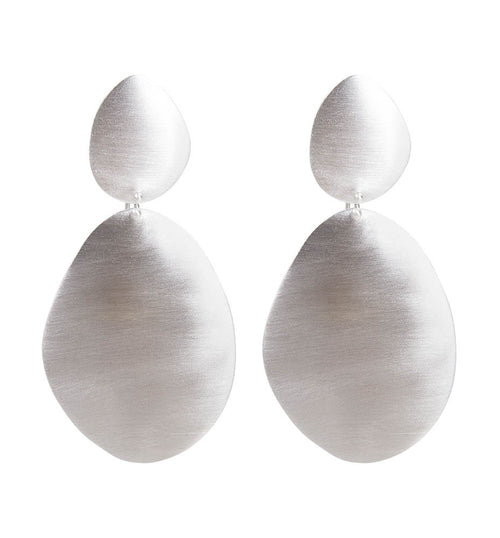 ALEXA SHIELD EARRINGS - SILVER