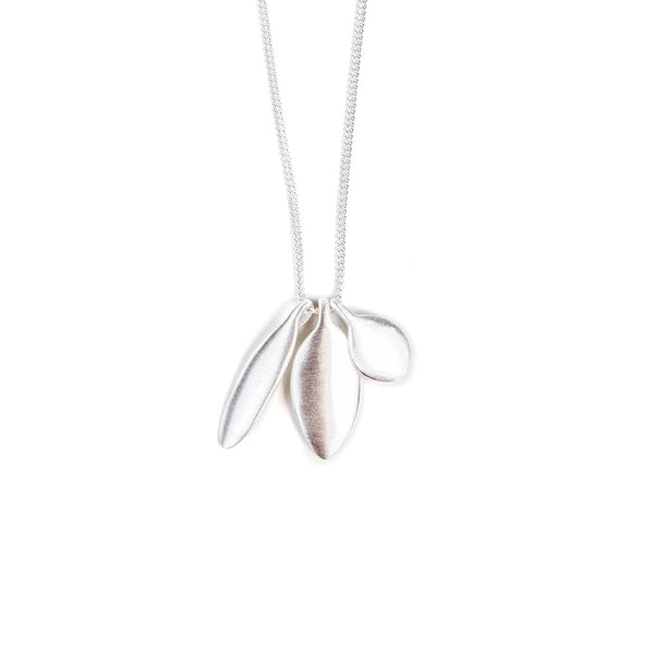 TRILOGY CHARM NECKLACE- SILVER