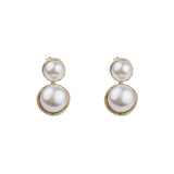 DOUBLE PEARL EAR JACKETS - GOLD