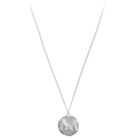 LEAF CHARM NECKLACE - SILVER