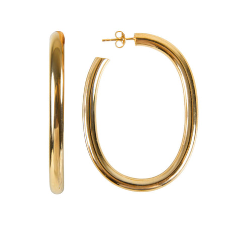 PEARL ELLA HOOPS - GOLD