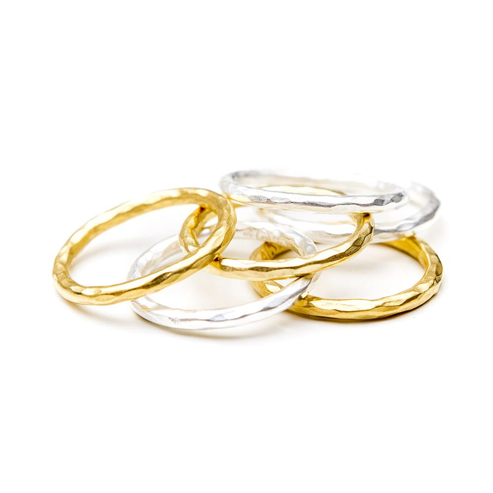 AURELIA HAMMERED BAND - GOLD