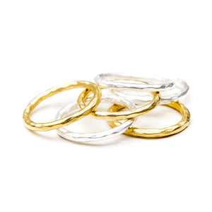 HAMMERED BAND - GOLD