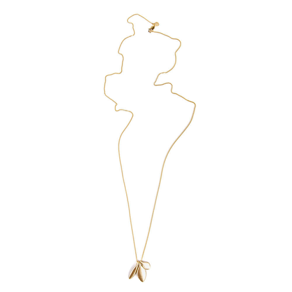 ALEXA TRILOGY CHARM NECKLACE- GOLD