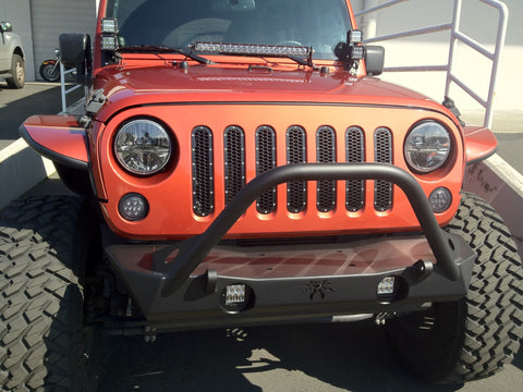 RIGID INDUSTRIES LED JK FOG LAMP BRACKET  WITH OR WITHOUT LIGHTS