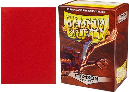 63x88 Crimson MATTE Sleeves - Dragon Shield - Box 100