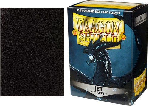63x88 Jet MATTE Sleeves - Dragon Shield - Box 100