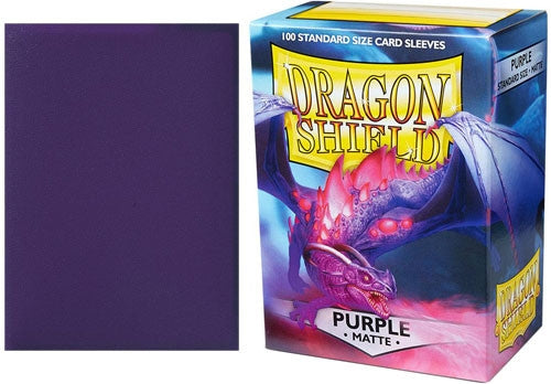 63x88 Purple MATTE Sleeves - Dragon Shield - Box 100
