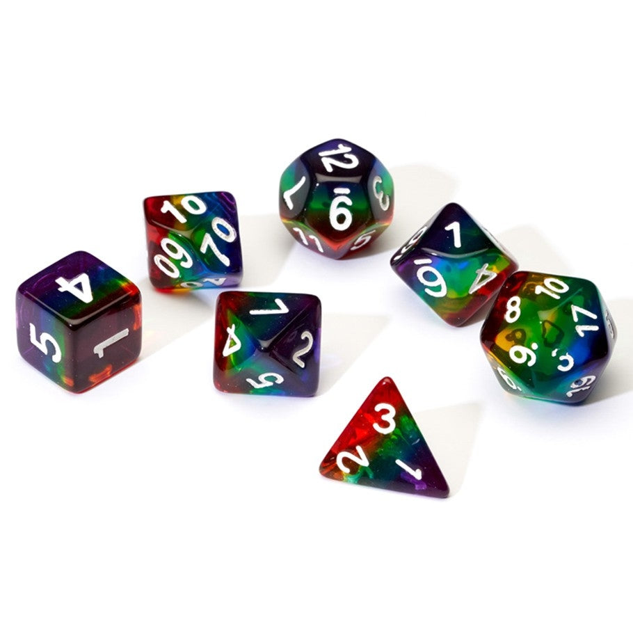 7-set TR Rainbow wh Dice in Tube