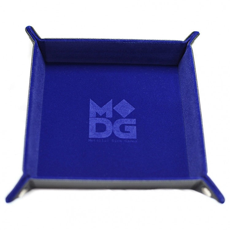 Blue Velvet Folding Dice Tray - 10x10