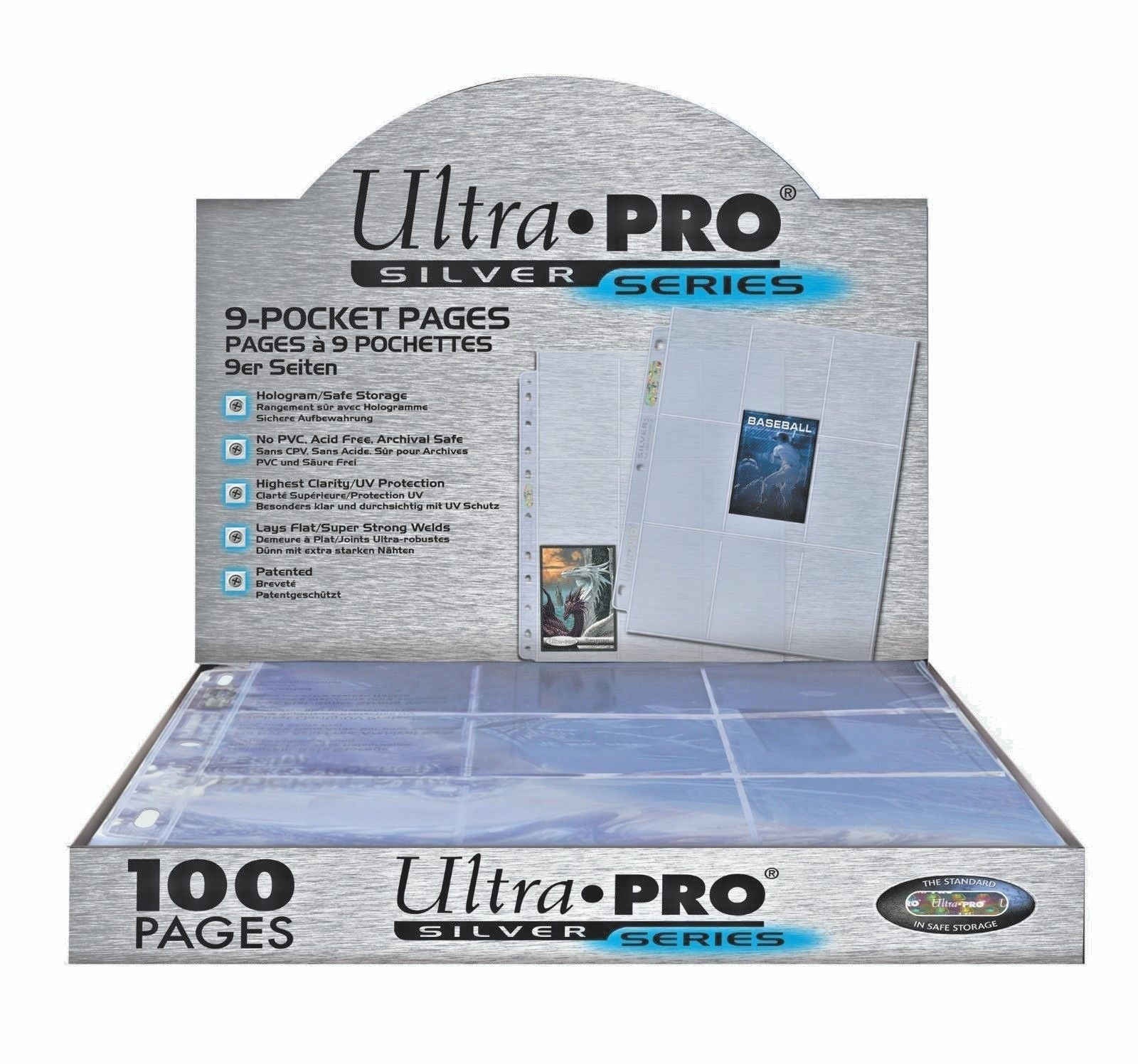 9-Pocket Pages Silver Series UltraPro - Hologram
