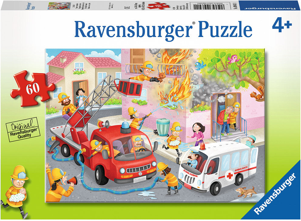 Firefighter Rescue! Puzzle 60pc