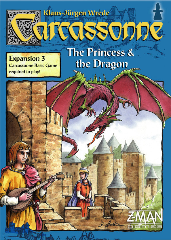 Carcassonne- The Princess and the Dragon