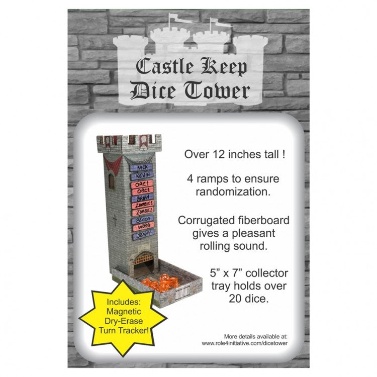 Castle Keep Dice Tower w/ Magnetic TT