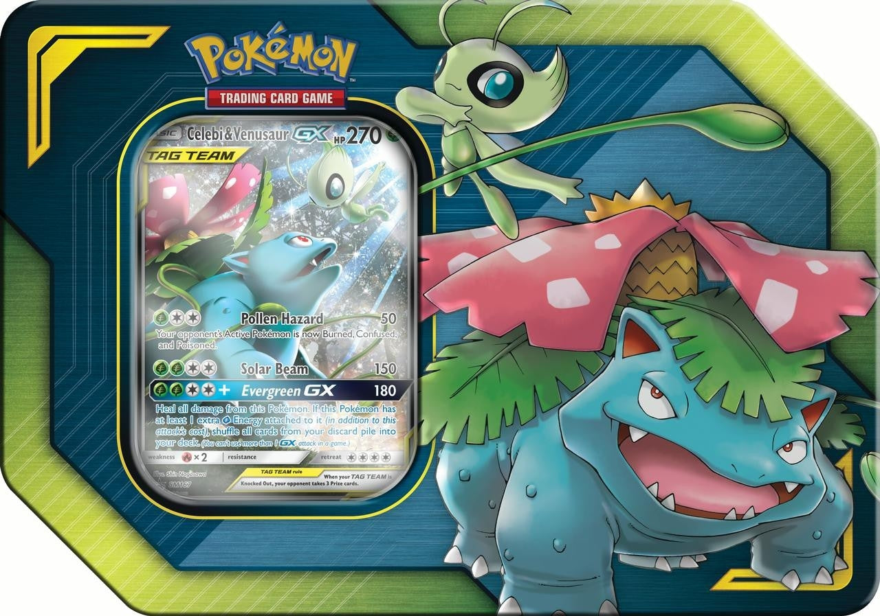 Celebi and Venusaur Tag Team Tin - Pokemon