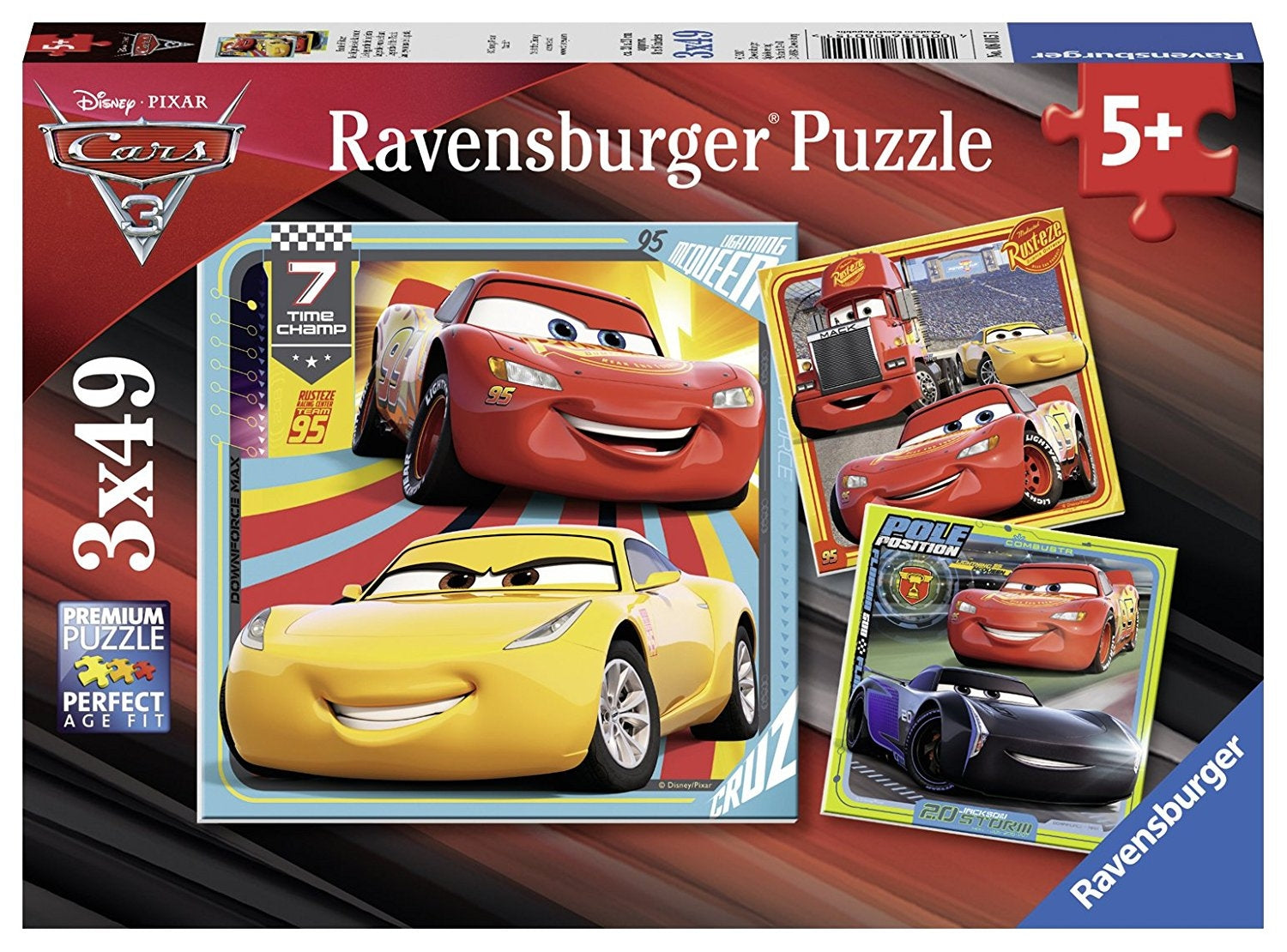 Disney Cars 3 Collection 3x49pc