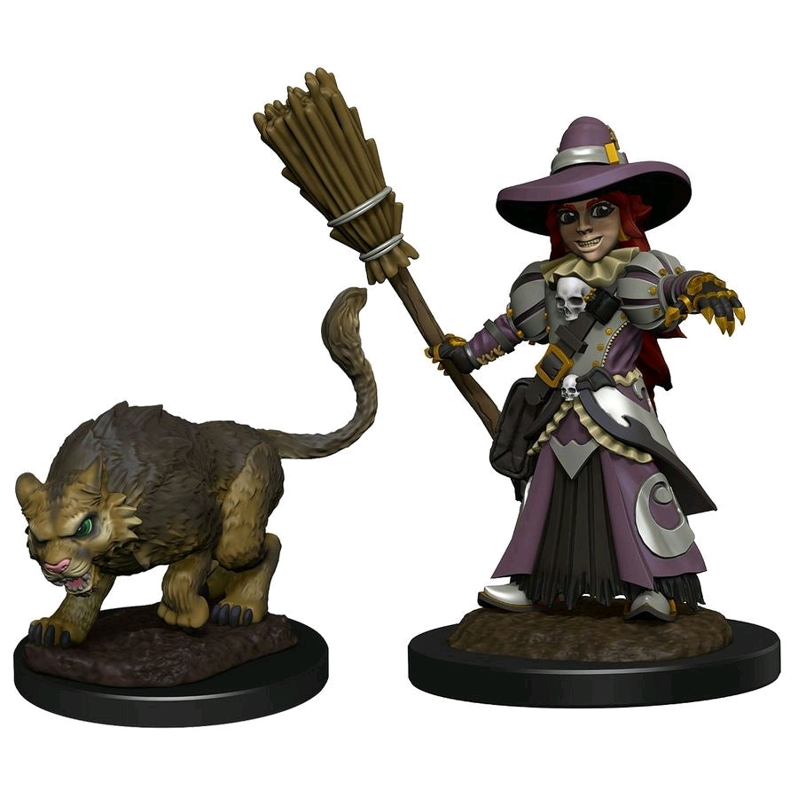 Girl Witch & Witchs Cat - Wardlings - Pre-Painted Miniatures