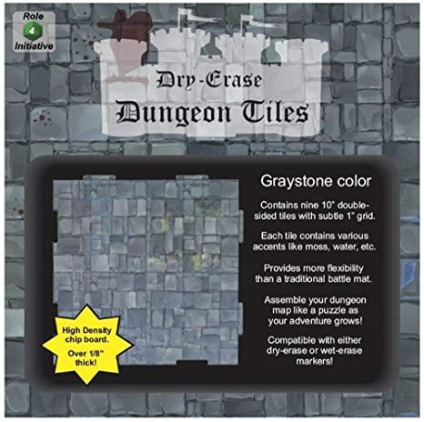 Graystone 10 inch square - Dry-Erase Dungeon Tiles