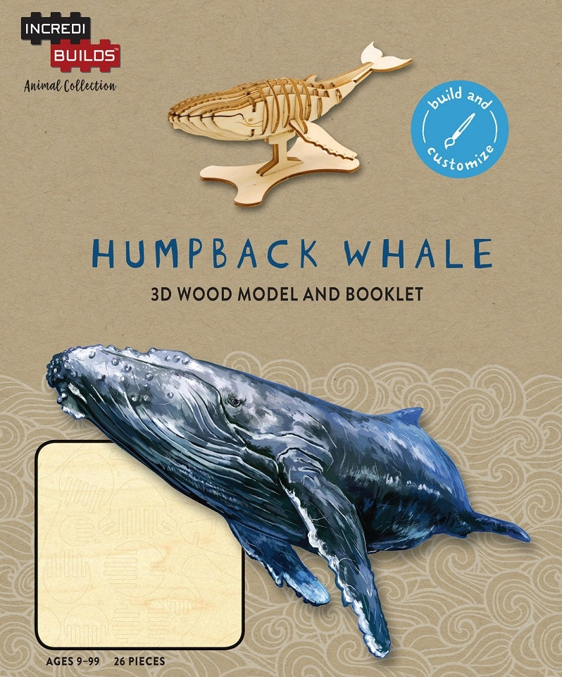 Humpback Whale - Incredibuilds Animal Collection 3d Wood Model