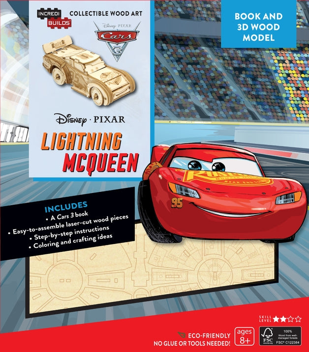 Lightning McQueen Cars 3 - Incredibuilds Disney Collection 3d Wood Model