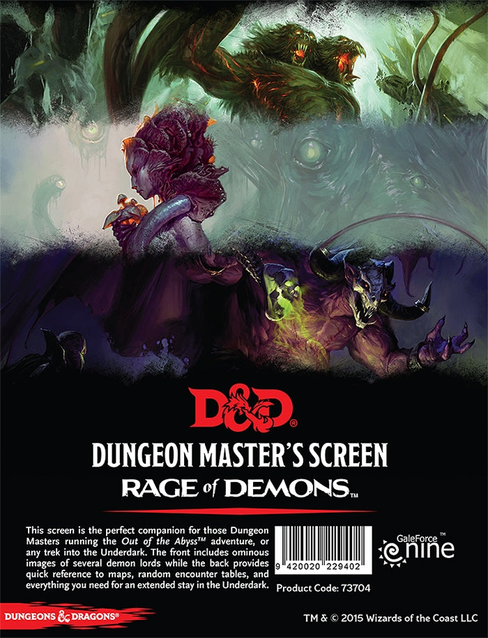 Rage of Demons DM Screen - D&D 5e