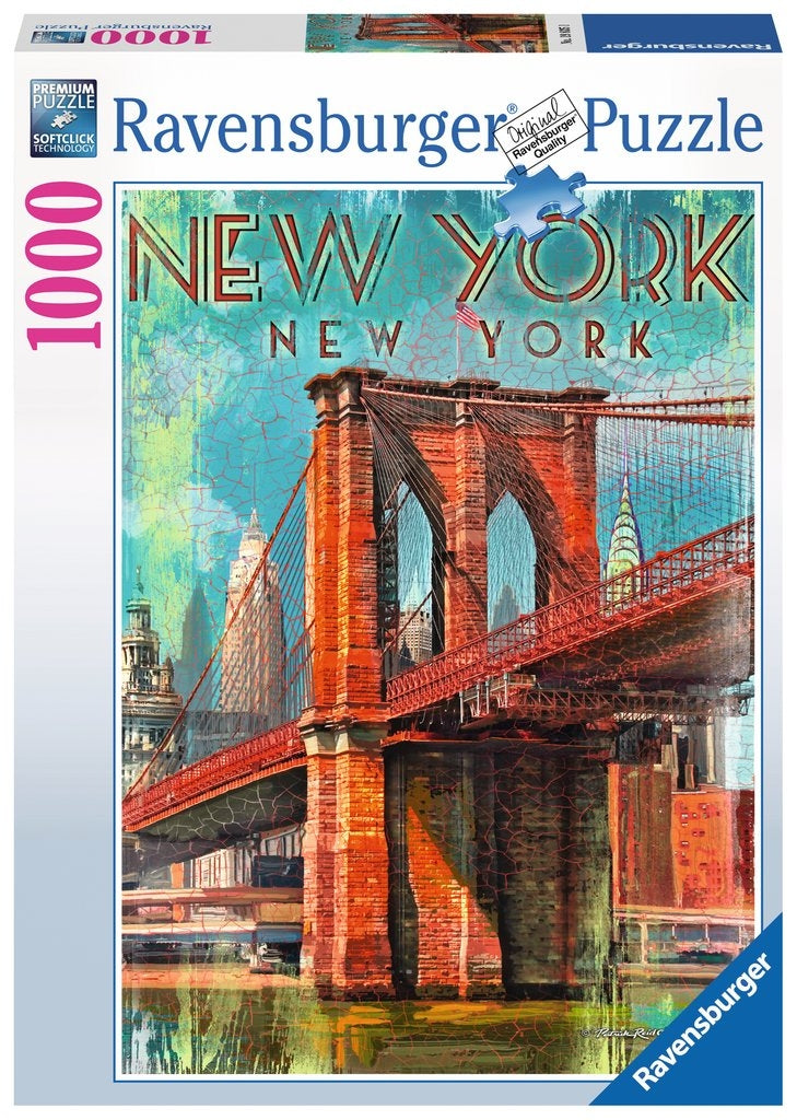 Retro New York Puzzle 1000Pc