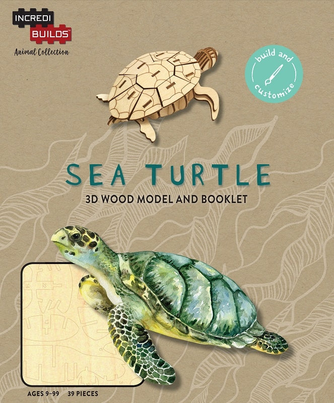 Sea Turtle - Incredibuilds Animal Collection 3d Wood Model