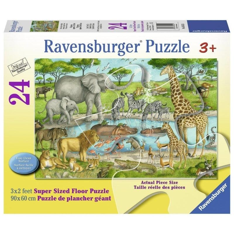 Watering Hole Supersize Puzzle 24Pc