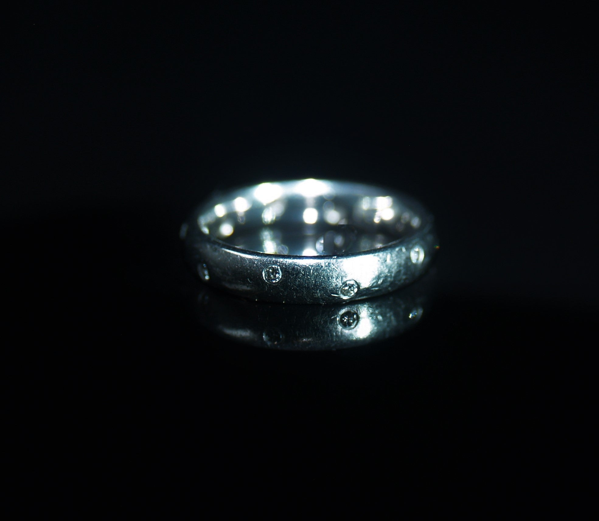 Platinum Diamond Set Wedding Band.