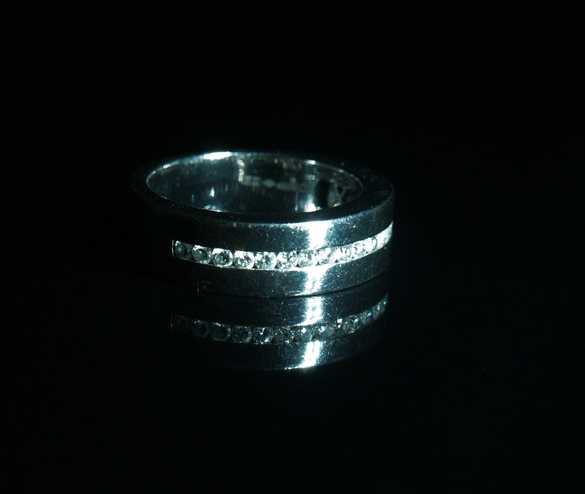 Platinum Diamond Wide Band Ring.