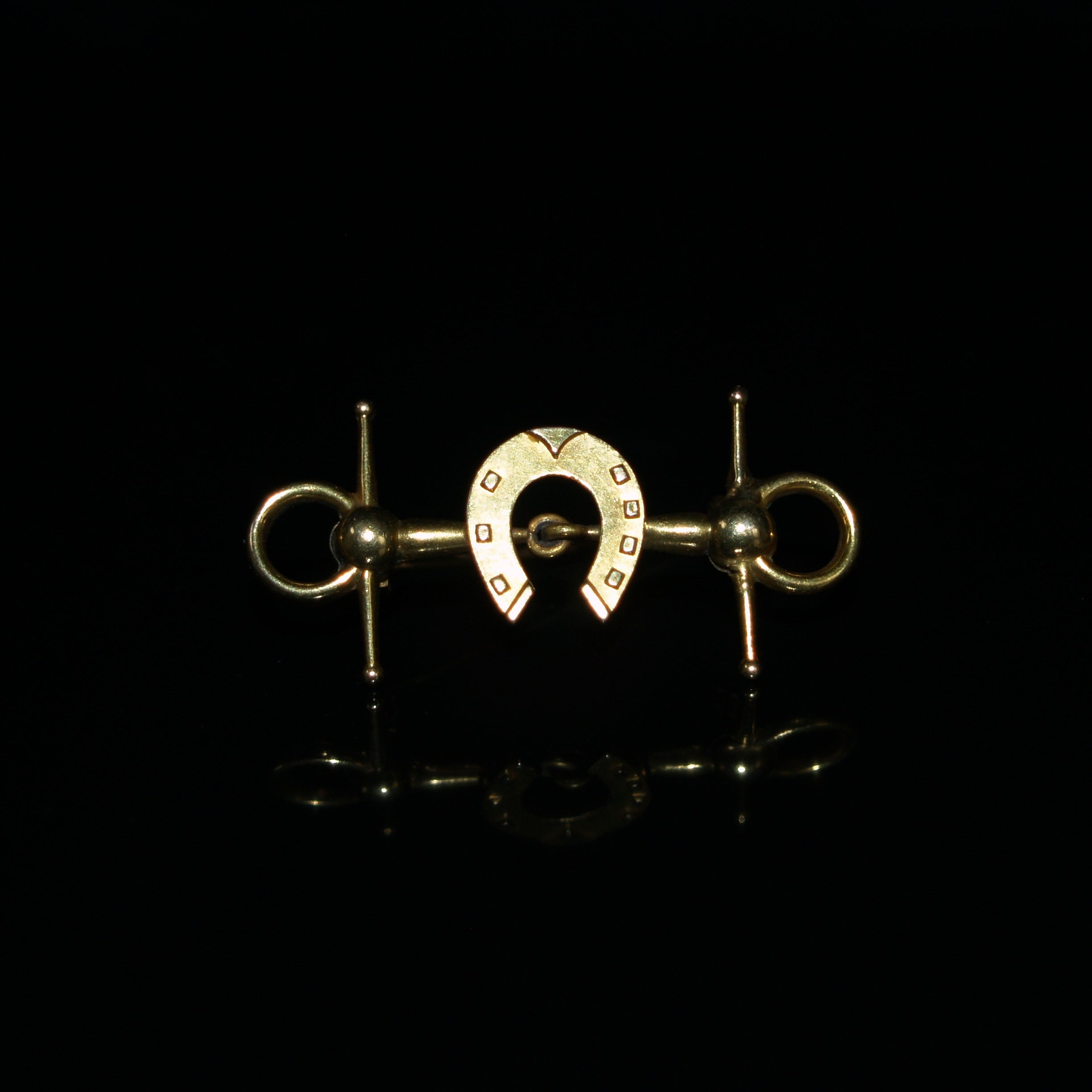 Victorian 9ct Gold Equestrian Bar Brooch.