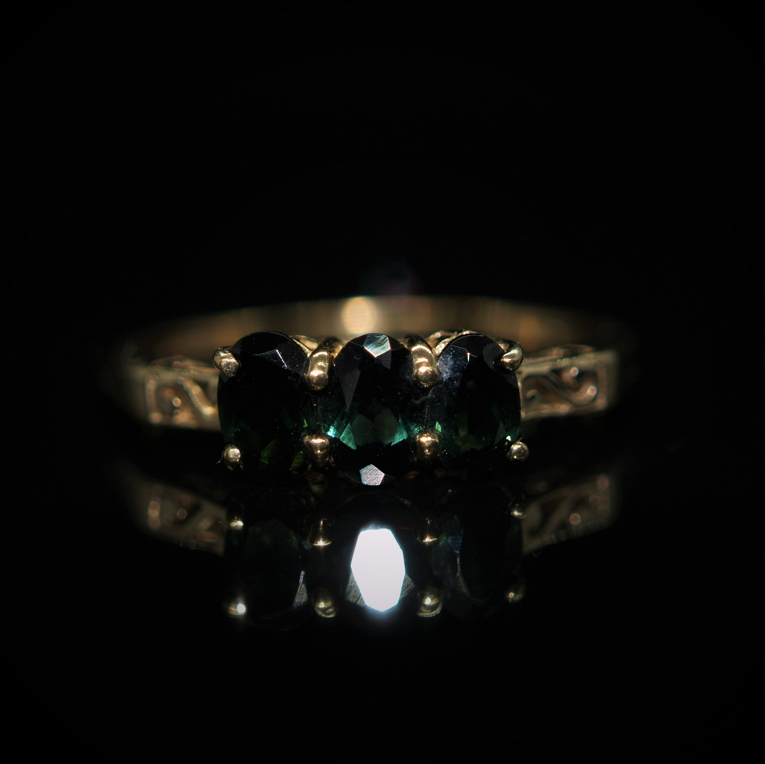 9ct Gold Tourmaline Ring.