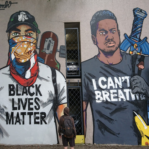 grenoble, streetart, blacklivesmatter, i can't breathe, george floyd