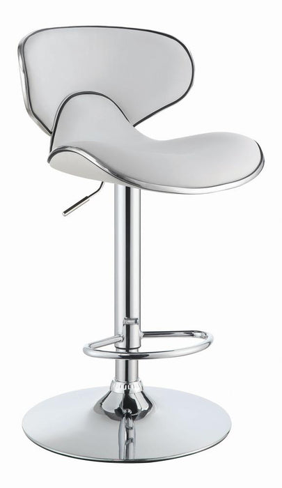 G120389 Contemporary White Adjustable Bar Stool image