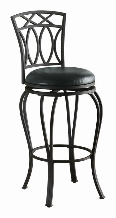 G122060 Casual Black Metal Bar Stool image