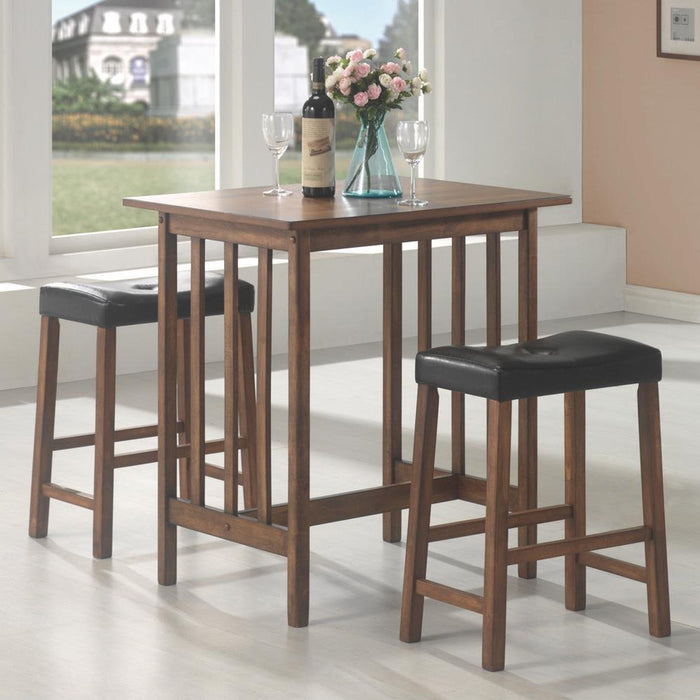 G130004 Casual Brown Three-Piece Table Set image