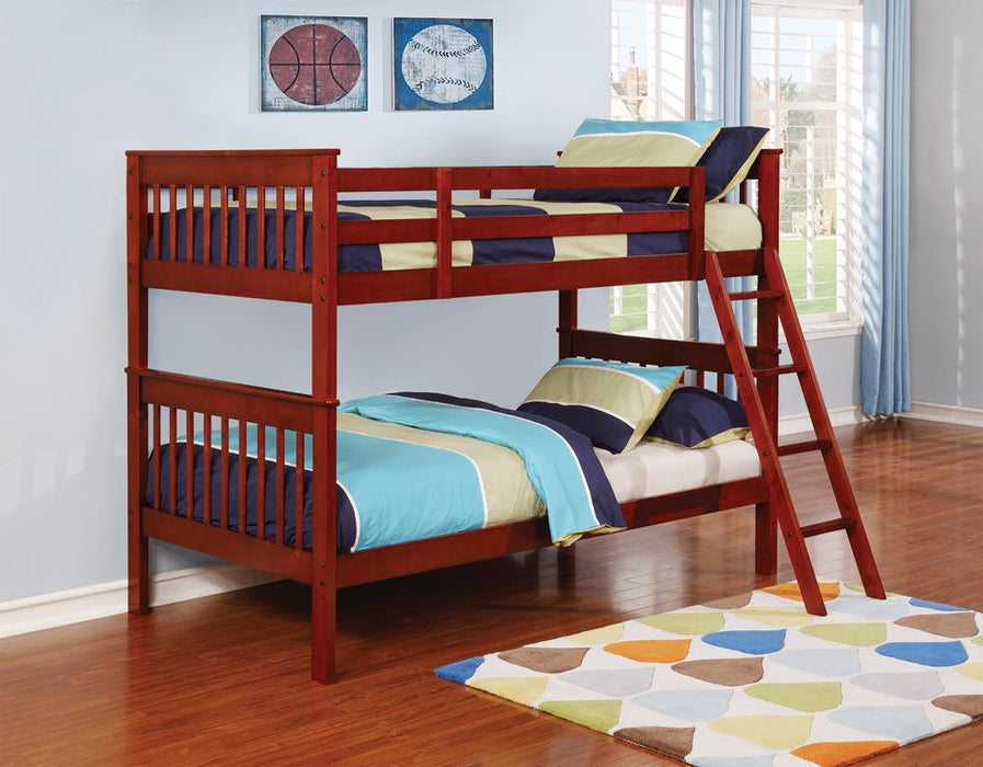 G460231 Parker Chestnut Twin-over-Twin Bunk Bed image