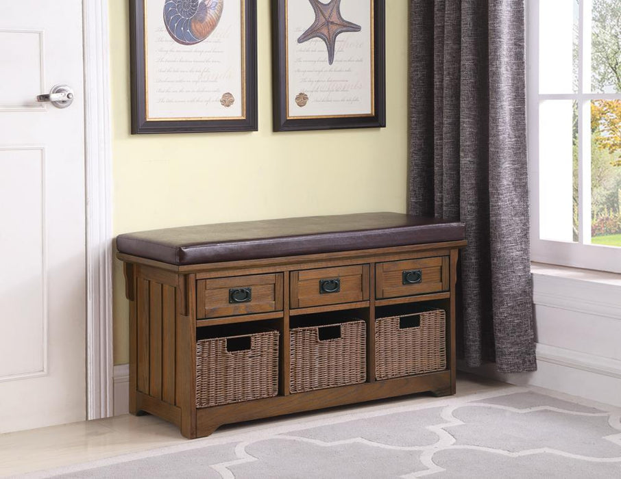 G501061 Traditional Medium Brown Bench image
