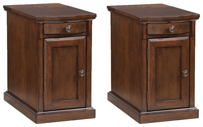 Laflorn Medium Brown Signature Design 2-Piece End Table Set