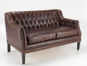 Traditional vintage style Leather Chesterfield 3 seater- Nelson Range