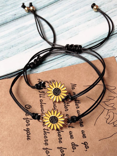 Daisy Adjustable Braided Bracelet