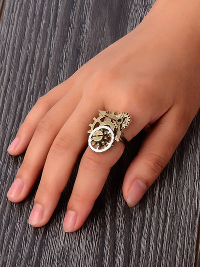 Steampunk Vintage Gear Ring
