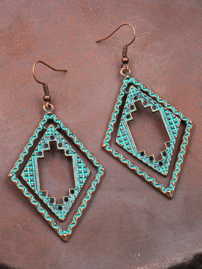 Vintage Casual Geometric Alloy Earrings