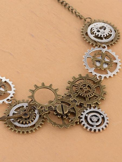 Steampunk Vintage Gears Necklace