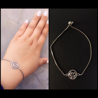 Ek Onkar with White chain Bracelet (6058879713438)