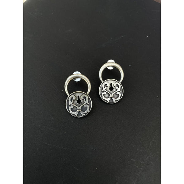 Lock & Key Earring (6044980609182)