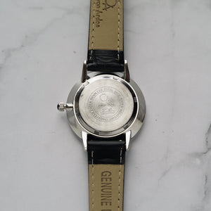 Christyan Arden ADONIS CA-0032 - Around The World Edition - Black Dial - Black Full Grain Strap (Wanita)