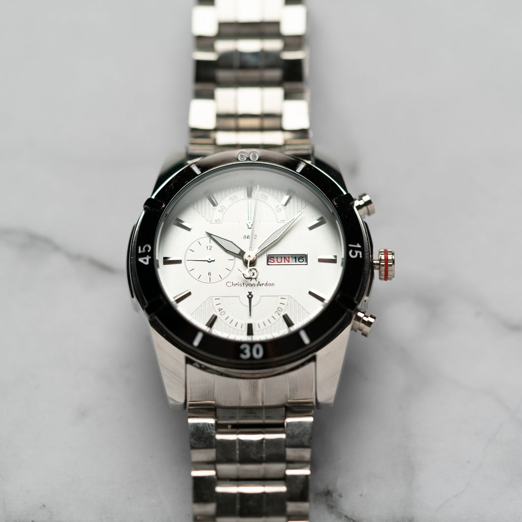 Christyan Arden DAYDATE EDITION CA8612 GTH - White Dial (46mm)