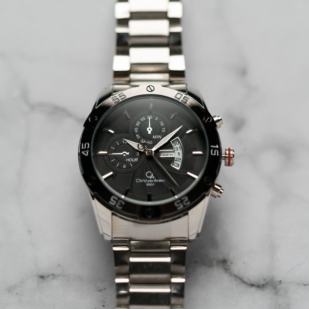 Christyan Arden DAYDATE EDITION CA8604 GTH - Black Dial (46mm)